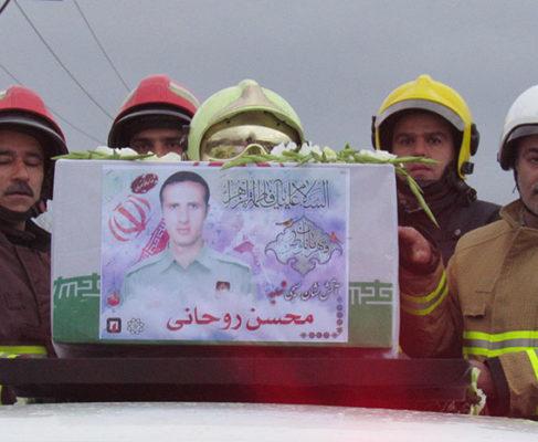 گزارش تصویری / مراسم تشییع پیکر شهید آتش نشان گیلانی در انزلی