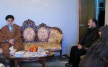 دیدار امام جمعه بندرانزلی با خانواده شهدا کریم بخش، طلوعی و شیخ محبوبی