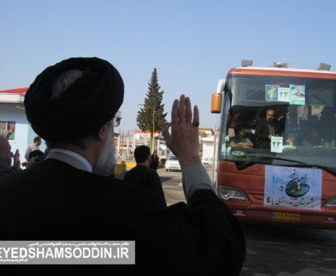 گزارش تصویری/مراسم بدرقه کاروان راهیان نور شهرستان بندرانزلی