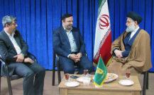 مدیر عامل سازمان منطقه آزاد تجاری صنعتی انزلی با امام جمعه انزلی دیدار کرد