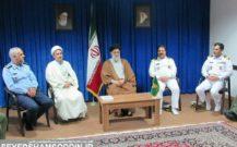 گزارش تصویری/ دیدار دانشجویان دانشکده فرماندهی و ستاد ارتش با امام جمعه انزلی