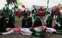 گزارش تصویری/ مراسم تعزیه روز عاشورا در بوستان امام حسین بندرانزلی