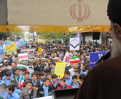 گزارش تصویری راهپیمایی روز ملی مبارزه با استکبار جهانی در انزلی