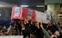 """گزارش تصویری / مراسم وداع با پیکر پاک تکاور شهید """"امیر باسره"""""""