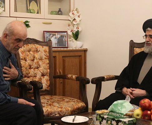 دیدار نوروزی امام جمعه انزلی با جمعی از خانواده شهداء