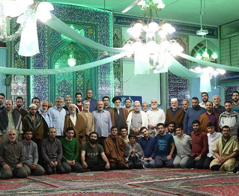 گزارش تصویری از مراسم اعتکاف در مسجد جامع بندرانزلی