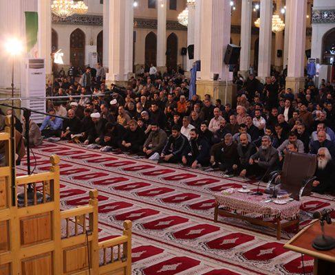 گزارش تصویری مراسم احیا شب ۱۹ ماه رمضان در مصلی رشت