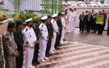 گزارش تصویری/ اجتماع بزرگ نیروهای مسلح با حضور خدام حرم رضوی