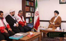 دیدار مدیرعامل جمعیت هلال احمر استان گیلان با امام جمعه بندر انزلی+ تصاویر//