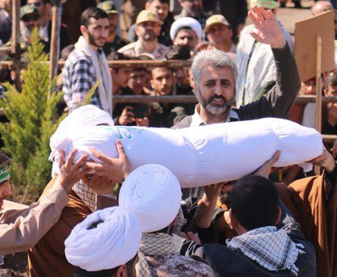 گزارش تصویری تشییع و خاکسپاری پیکر شهدای گمنام در رشت//