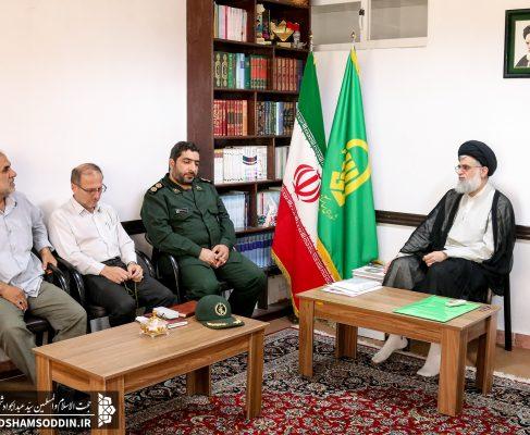 دیدار مسئول و اعضای مجمع عالی بسیج شهرستان با امام جمعه بندرانزلی