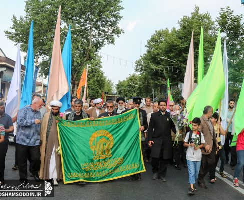 مراسم استقبال از خدام آستان قدس رضوی و اجتماع مردمی حمایت از عفاف و حجاب برگزار شد