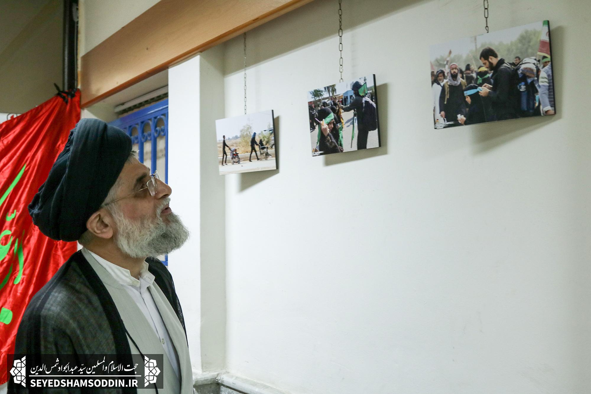 بازدید امام جمعه بندرانزلی از سوگواره تصویری اربعین حسینی