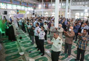 نماز عید سعید فطر در بندرانزلی با رعایت پروتکلهای بهداشتی